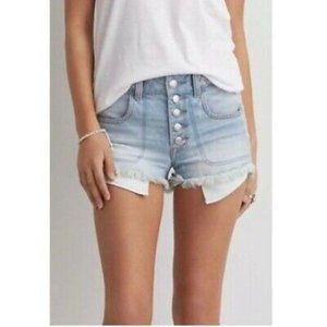 American Eagle Braided Button Fly Hi-Rise Shortie
